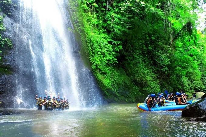 Exciting white water rafting - Tegalalang Rice terrace - swing - tukad cepung water fall